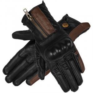 Dámske rukavice na motocykel Rebelhorn Hunter čierno-hnedé