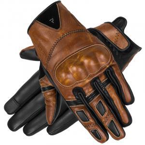 Dámske rukavice na motocykel Rebelhorn Thug II svetlohnedé