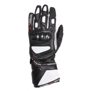 Dámske rukavice na motocykel RSA RX-1 čierno-biele - II. akosť