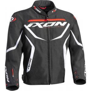 Detská bunda na motocykel IXON Sprinter čierno-bielo-červená