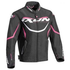 Detská bunda na motocykel IXON Sprinter čierno-bielo-ružová