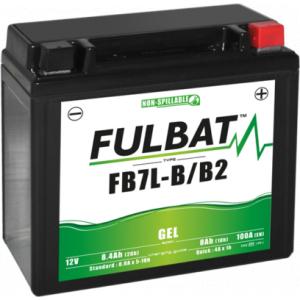 Gelový akumulátor FULBAT FB7L-B/B2 GEL (YB7L-B/B2 GEL)