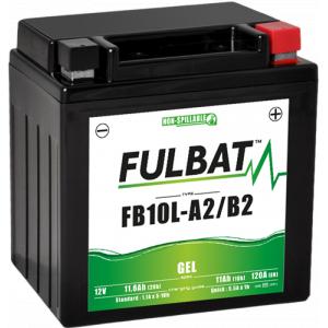 Gelový akumulátor FULBAT FB10L-A2/B2 GEL (YB10L-A2/B2 GEL)