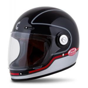 Integrálna prilba na motorku Cassida Fibre Jawa Sport čierno-strieborno-červená