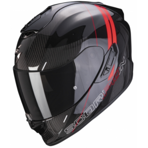 Integrálna prilba Scorpion EXO-1400 Carbon Air Drik čierno-červená