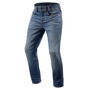 Jeansy na motocykel Revit Piston modré skrátené výpredaj