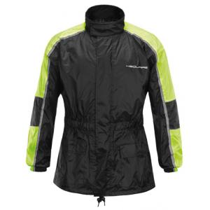 Moto bunda do dažďa 4SQUARE Drop čierno-fluorescenčno žltá