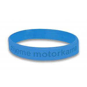 Moto náramok Motozem žijeme motorkama - modrý