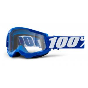 Motokrosové okuliare 100% STRATA 2 modré (čiré plexi)
