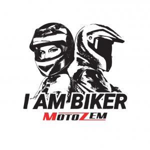 Nálepka MotoZem I Am Biker