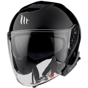 Otvorená prilba na motocykel MT Thunder 3 SV Solid čierna lesklá - II. akosť