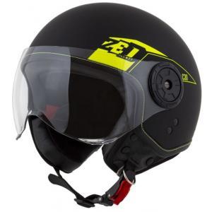Otvorená prilba na motocykel ZED C30 čierno-fluo žltá matná