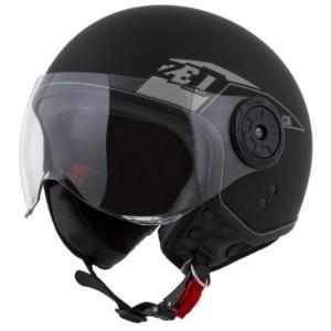 Otvorená prilba na motocykel ZED C30 čierno-šedá matná