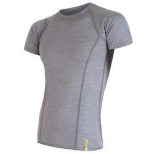Pánske funkčné tričko Sensor Merino Active sivé - krátky rukáv