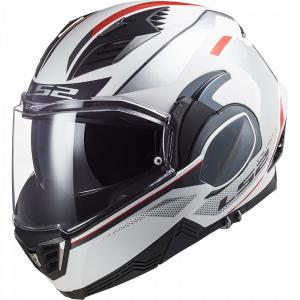 Preklápacia prilba na motocykel LS2 FF900 Hub bielo-strieborná