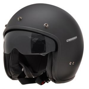Prilba na motocykel otvorená Cassida Oxygen čierna matná - II. akosť