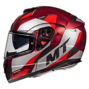 Odklápacia prilba na motocykel MT Atom SV TRANSCEND F5 červená - II. akosť