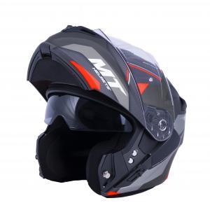 Vyklápacia prilba na motocykel MT Storm ST-ONE čierno-šedo-červená