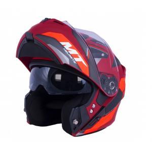 Vyklápacia prilba na motocykel MT Storm ST-ONE červeno-čierna