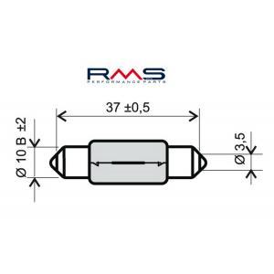 Žiarovka RMS 246510165 12V 10W, T11X39 S8.5 biela