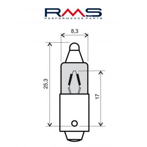 Žiarovka RMS 246510025 12V 23W, 180° (10 pieces)