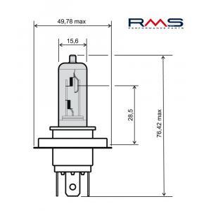Žiarovka RMS 246510185 12V 35/35W, HS1 biela