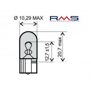 Žiarovka RMS 246510265 12V 3W , W3W T10 biela