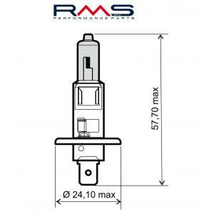 Žiarovka RMS 246510030 12V 55W, H1 modrá