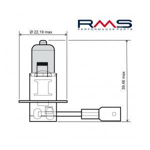 Žiarovka RMS 246510040 12V 55W, H3 modrá
