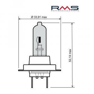 Žiarovka RMS 246510110 12V 55W, H7 modrá