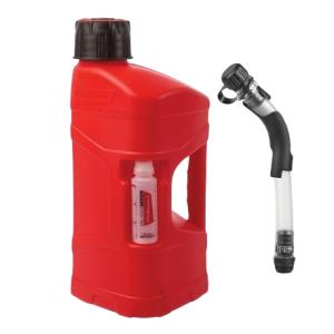 Kanyster POLISPORT PROOCTANE 10 l bandaska na tankovanie   100 ml  nádoba na olej   tankovacia hadica priehľadná červená