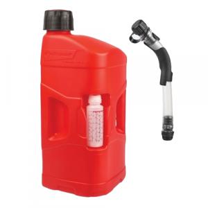 Kanyster POLISPORT PROOCTANE 20 l bandaska na tankovanie   250 ml  nádoba na olej   tankovacia hadica priehľadná červená