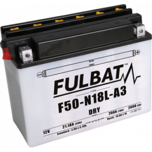 Konvenčný akumulátor ( s kyselinou) FULBAT F50-N18L-A3 (Y50-N18L-A3) Vrátane balenia kyseliny