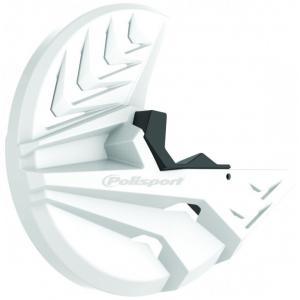 Kryt predného brzdového kotúča so spodným krytom vidlice POLISPORT PERFORMANCE biela/čierna