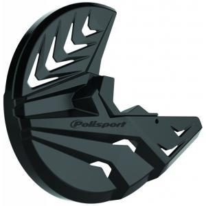 Kryt predného brzdového kotúča so spodným krytom vidlice POLISPORT PERFORMANCE čierno/čierna