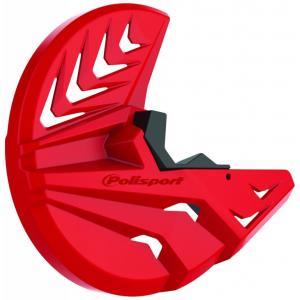 Kryt predného brzdového kotúča so spodným krytom vidlice POLISPORT PERFORMANCE červeno CR04/ čierna