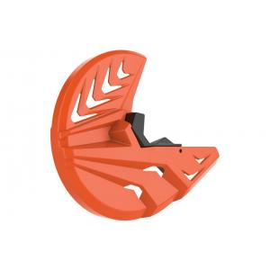 Kryt predného brzdového kotúča so spodným krytom vidlice POLISPORT PERFORMANCE oranžovo KTM / čierna