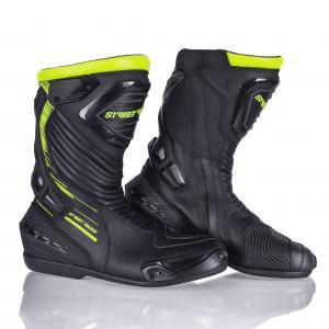 Topánky na motocykel Street Racer Grid čierno-fluo žlté