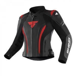 Dámska bunda na motocykel Shima Miura 2.0 čierno-červená