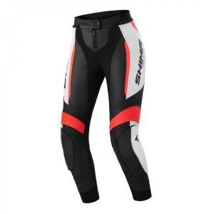 Dámske nohavice na motocykel Shima Miura 2.0 čierno-bielo-fluo červené