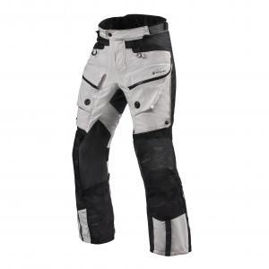 Nohavice na motocykel Revit Defender 3 GTX strieborno-čierne skrátené