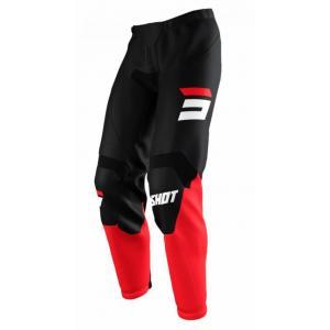Motokrosové nohavice Shot Raw Burst čierno-červené