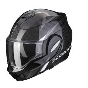 Preklápacia prilba Scorpion EXO-TECH Carbon Top čierno-biela