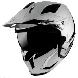 Prilba na motocykel MT Streetfighter SV Chromed strieborná - II. akosť