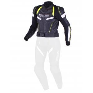Dámska bunda RSA Speedway čierno-bielo-fluorescenčno-žltá výpredaj