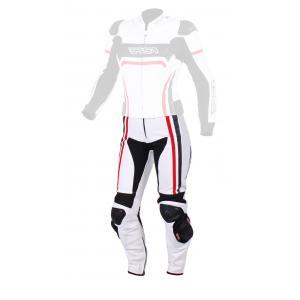 Dámske nohavice na motocykel RSA Virus bielo-čierno-červené výpredaj