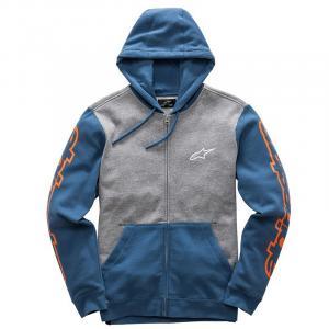 Mikina Alpinestars Machine Fleece šedo-modrá