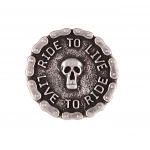 Odznak Live Skull