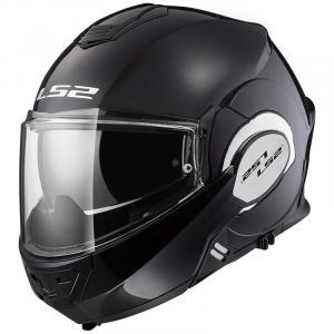 Odklápacia prilba na motocykel LS2 FF399 Valiant čierna lesklá