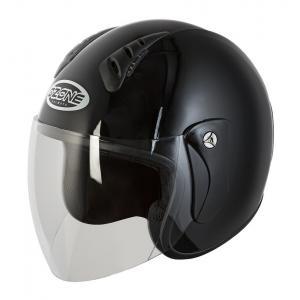 Prilba na motocykel otvorená Ozone HY-818 čierna lesklá